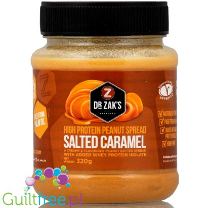 Dr Zak's Salted Caramel protein peanut butter