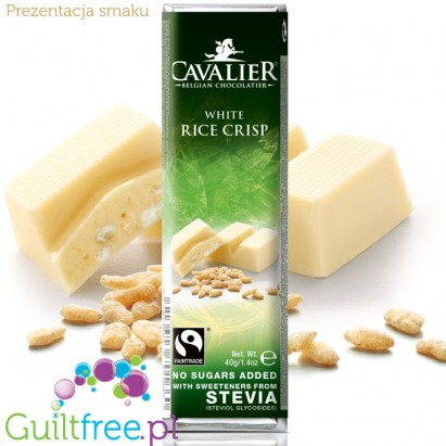 Cavalier rice crisps white chocolate with stevia