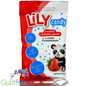 Lily Strawberry, Powdered sugar-free dragee with erythritol and stevia