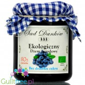 Sad Danków, no sugar added organic blueberry jam