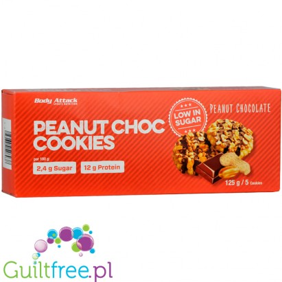 Body Attack Chocolate Chip protein cookies, sugar free, 115g