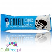 Fulfil Cookies & Cream protein bar with vitamins