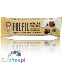 Fulfil White Chocolate Cookie Dough protein bar with vitamins