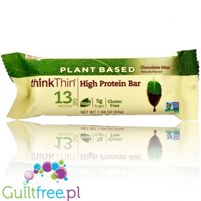 ThinkThin High Protein Bars, Plant Based, Chocolate Mint
