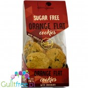 Karumu sugar free orange flat cookies with chocolate