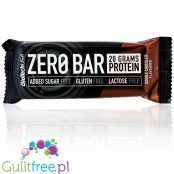 Biotech Zero Bar Double Chocolate protein bar free from lactose