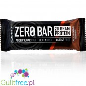 Biotech Zero Bar Chocolate Caramel protein bar free from lactose