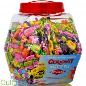 Geriovit sugar free chewy ruit candes with collagen, jar 1,5kg