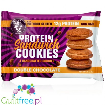 Buff Bake protein sandwich cookies Double Chocolate