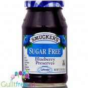 Smucker's sugar free blueberry preserves with Splenda