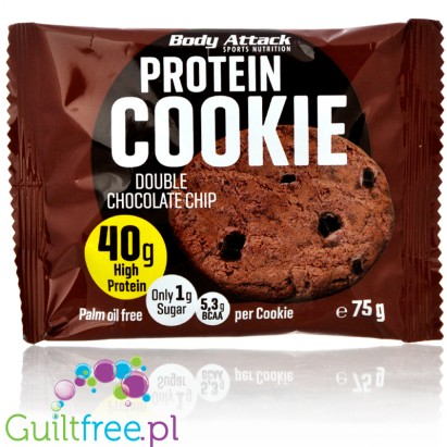 Body Attack Protein Cookie Double Chocolate Chip 40g protein