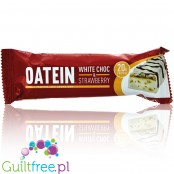 Oatein White Choc & Strawberry low sugar protein bar