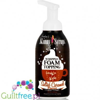 Skinny Syrups Sugar Free Whipped Latte Foam Topping - Salted Caramel