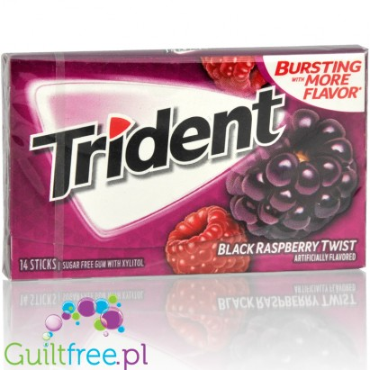 Trident Black Raspberry Twist guma do żucia bez cukru