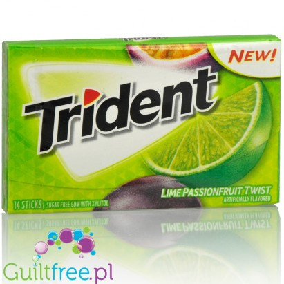 Trident Lime Passion guma do żucia bez cukru