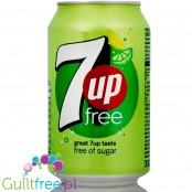 7up Free can - zero sugar, zero kcal