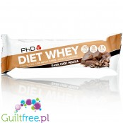 PhD Diet Whey Dark Chocolate Mocha protein bar with L-carnitine