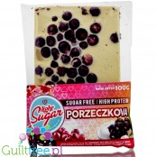 Light Sugar blackcurrant sugar free white chocolate with WPC