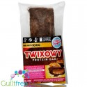 Light Sugar Twix-like protein bar sugar free with WPC, free from lactose