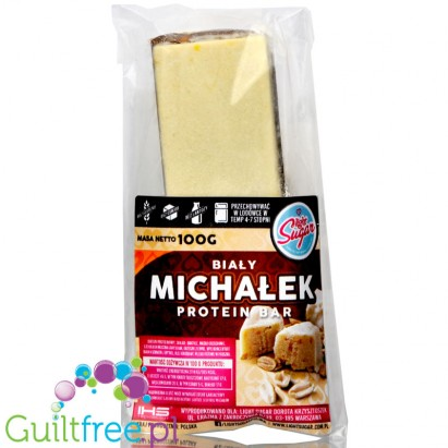 Light Sugar Michalek White protein bar sugar free with WPC, free from lactose
