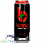 VPX Bang Peach Mango sugar free energy drink with BCAA