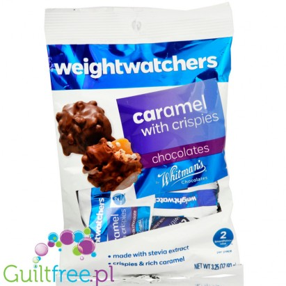 Weight Watchers Chocolate Candies, Caramel with Crispies