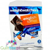 Weight Watchers sugar free Chocolate Candies with stevia, English Toffee flavor filling
