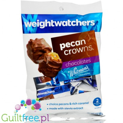 Weight Watchers Chocolate Candies, Pecan Crowns