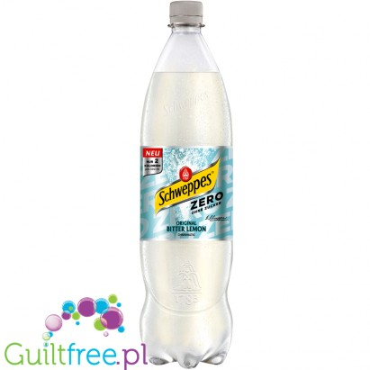 Schweppes Slimline Bitter Lemon - carbonated low-calorie refreshing drink with natural lemon and lime flavor