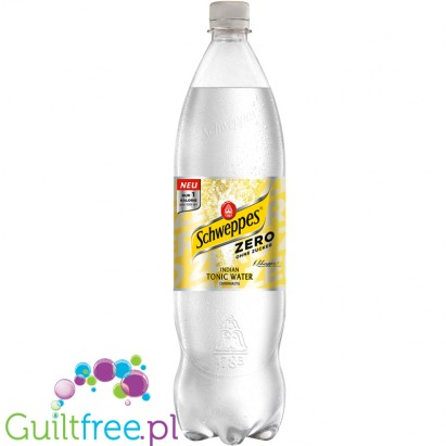 Schweppes Slimline Tonic 1,25L- a refreshing, low calorie refreshing drink with a natural lemon and lime flavor