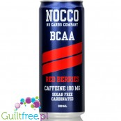 NOCCO BCAA Red Berries  - sugar free energy drink with caffeine, l-carnitine and BCAA