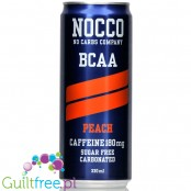 NOCCO BCAA Peach  - sugar free energy drink with caffeine, l-carnitine and BCAA