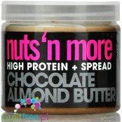 Nuts' n More Chocolate Almond Butter No Sugar Added with Xylitol and Whey Protein