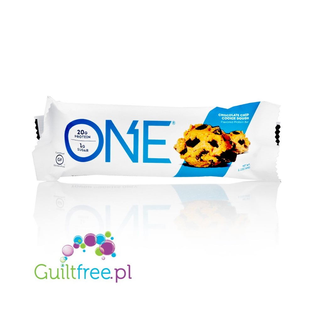 6d6fa3494 OhYeah One Choco Chip Cookie Dough gluten free protein bar - GUILTFREE.PL