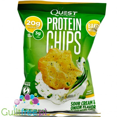 Baked Protein Chips from Sour Cream & Onion