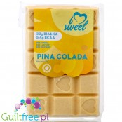iLoveSweet Piña Colada - sugar free protein white chocolate with pineapple and coconut