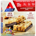 Atkins Meal Almond & Coconut box x 5 protein bars