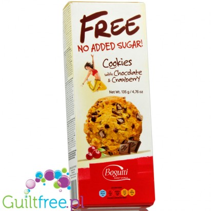 Bogutti sugar free cookies with chocolateand cranberries