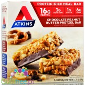 Atkins Meal Chocolate Peanut Butter Pretzel x 5 bars