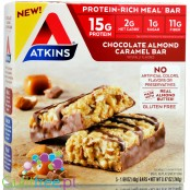 Atkins Meal Chocolate Almond Caramel box x 5 bars