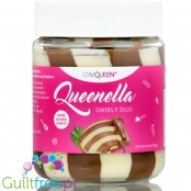 GymQueen Quenella Swirly Duo, protein white & milk chocolate no added sugar spread