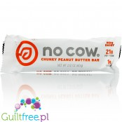 No Cow Bar Chunky Peanut Butter vegan protein bar