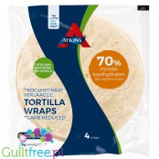Atkins low carb tortilla wraps, 70% less carbs