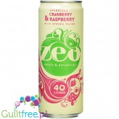 Zeo Sparkling Cranberry & Raspberry Spring Water with stevia and natural botanical extracts