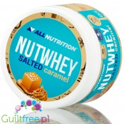AllNutrition Nutwhey Salted Caramel spread with WPC and shea butter, just 1g sugar