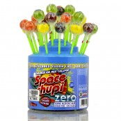 Space Chupi Zero sugar free lollipop display of 50 pcs
