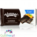 Wawel no added sugar dark chocolate with orange pieces