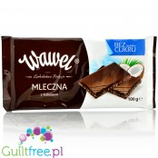 Wawel no sugar added milk chocolate with coconut pieces