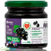 Bartfan blackcurrant fruit jam sweetened with xylitol only