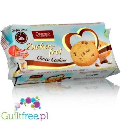 Sugarfree biscuits with 10% Chocolate Chips and Sweeteners
